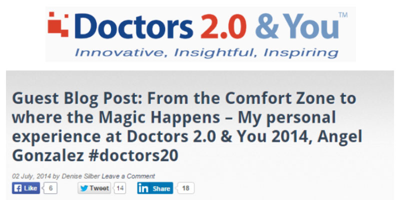 From the Comfort Zone To Where The Magic Happens: Doctors 2.0 & You 2014